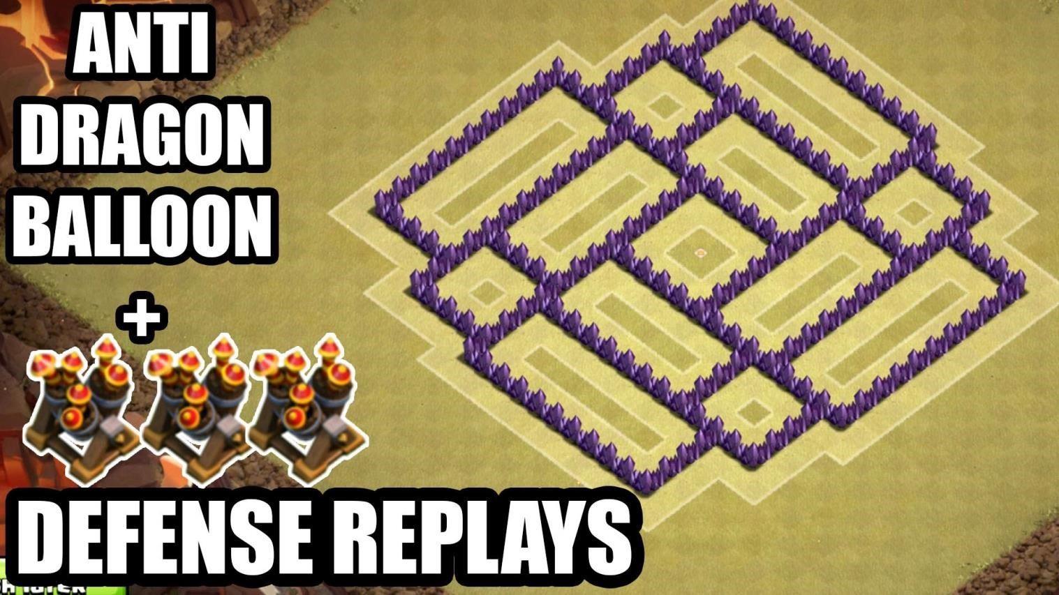 clash of clans 7. seviye köy binas? savunma