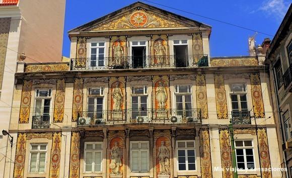 Casa do Ferreira das Tabuletas, Fachada de azulejos, Lisboa
