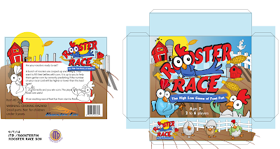 Rooster Race packaging rough by Imagine That! Design