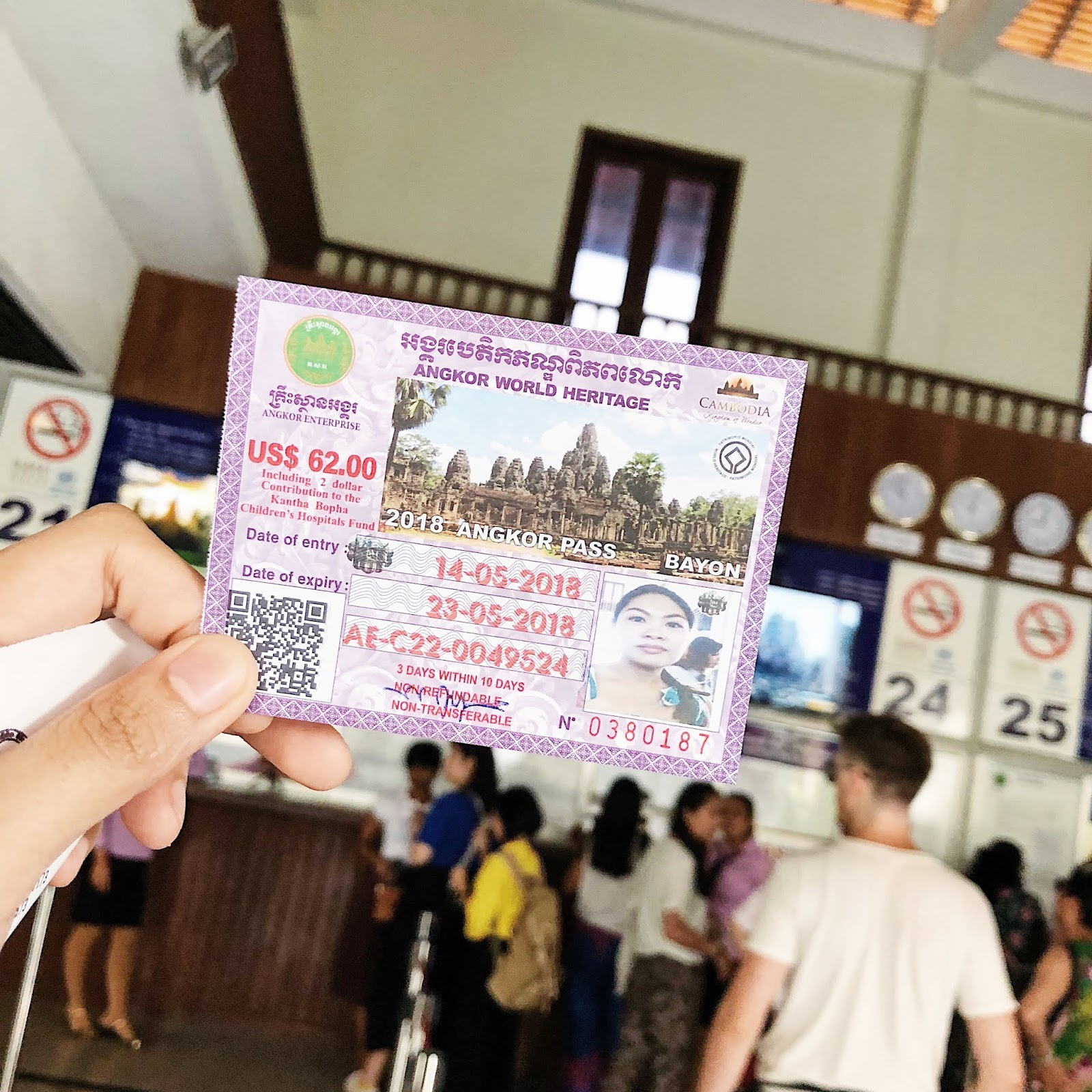 Siem Reap Temple Ticket