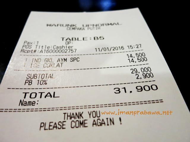 Biaya Makan di Warung Upnormal