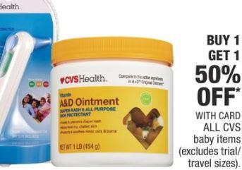 CVS baby items deals