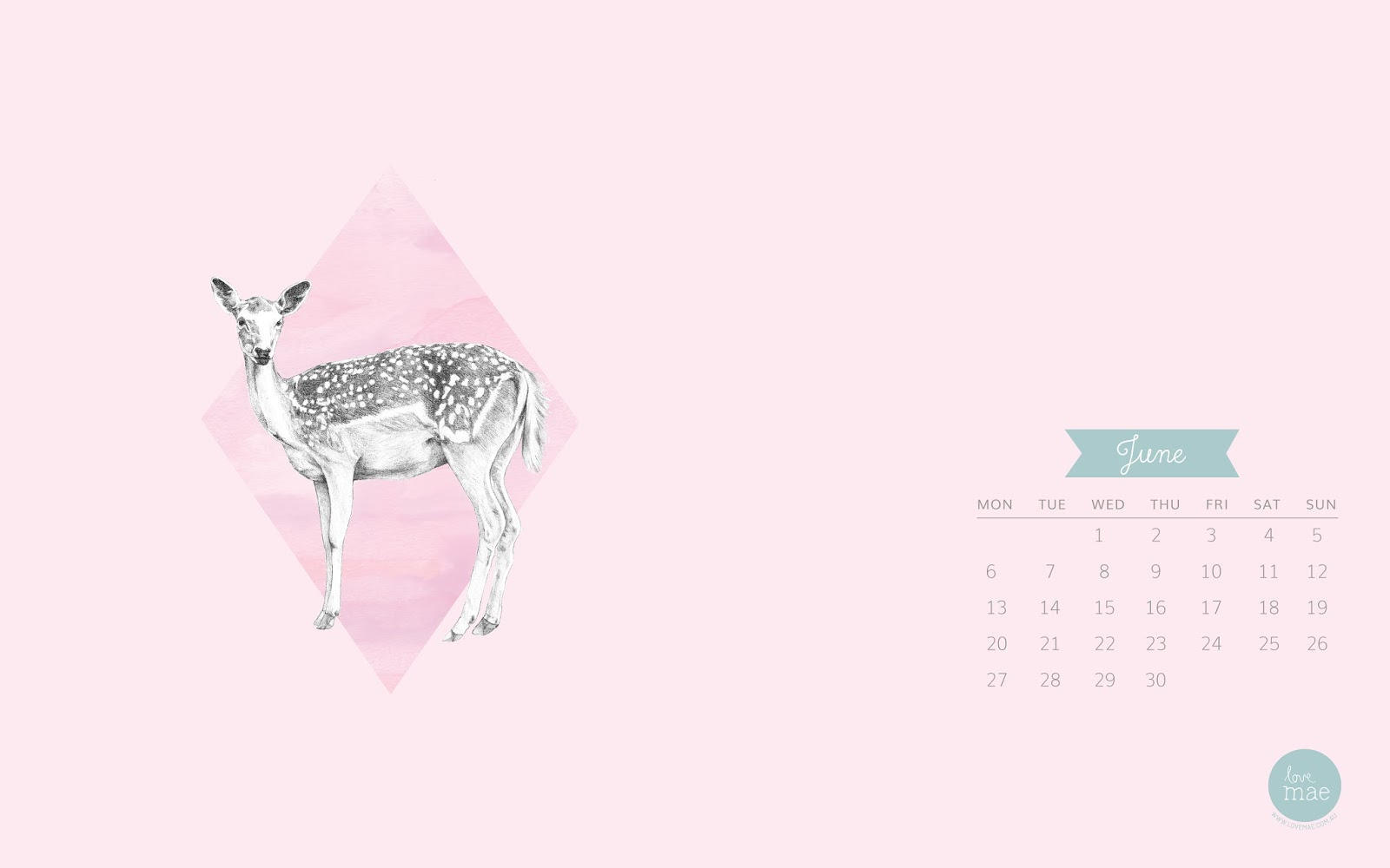 Calendar Wallpaper Love Mae : New desktop calendar for june love mae