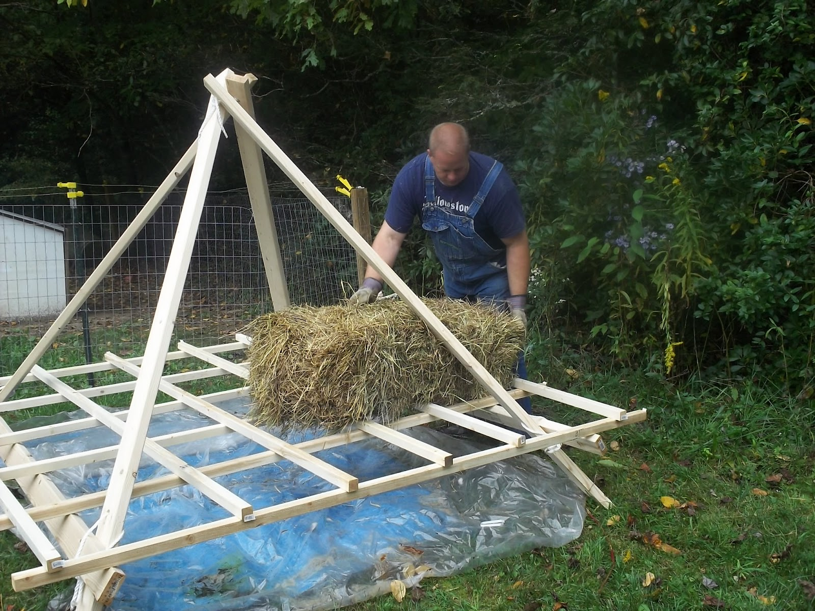 Homemade Hay Stack - Temporary Hay Storage