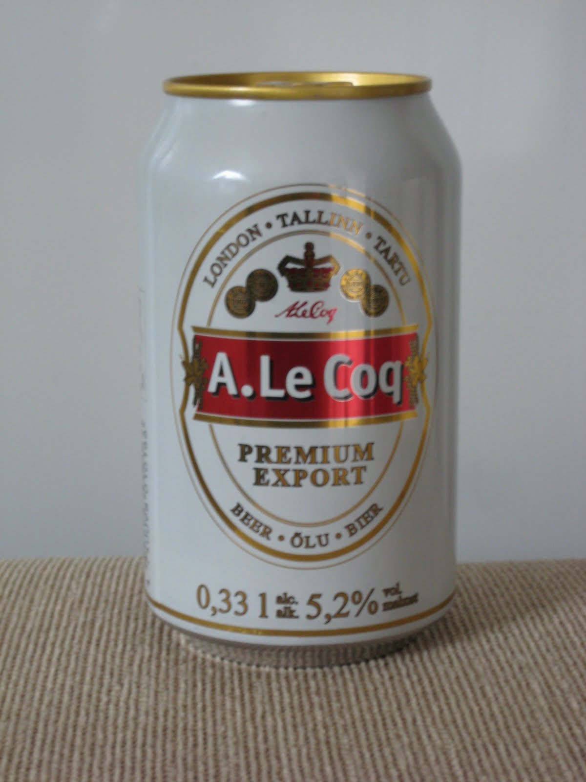 651f0272 A. La Coq Premium Export er et estlandsk øl med en kosefaktor på 5,2%.  Dette er et lyst øl med lite lukt. Det er også lite smak ved første slurk,  ...