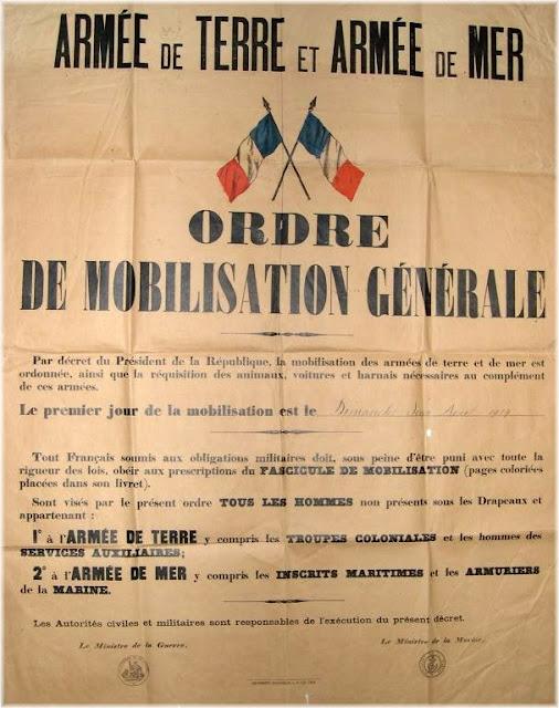 Affiche de la mobilisation générale (collection privée)