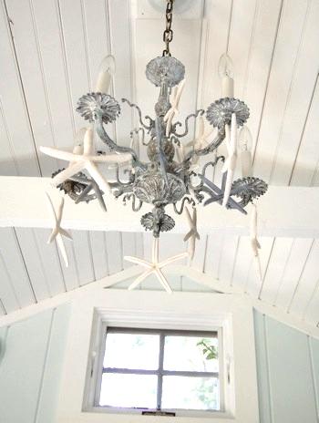 starfish chandelier