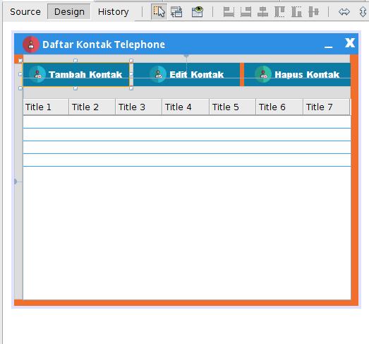 Gambar 1 - Membuat Aplikasi CRUD Dengan Java di Netbeans