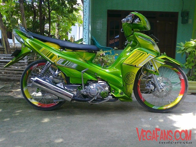 Modifikasi Jupiter Z New Modif Airbrush Warna Hijau
