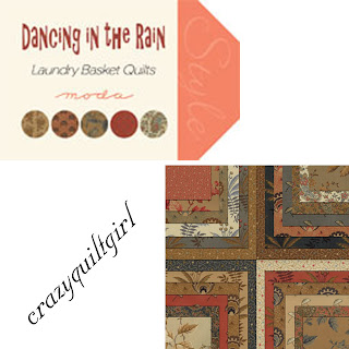 Moda DANCING IN THE RAIN Quilt Fabric by Laundry Basket Quilts