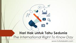 Hari Hak Untuk Tahu Sedunia