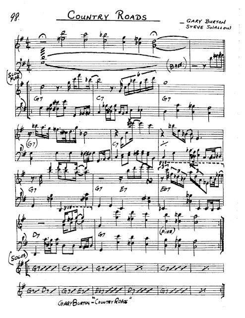 Partitura Saxofón Gary Burton and Steve Swallow