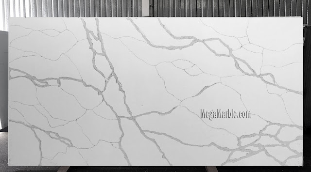 White Quartz Slab Countertops CT