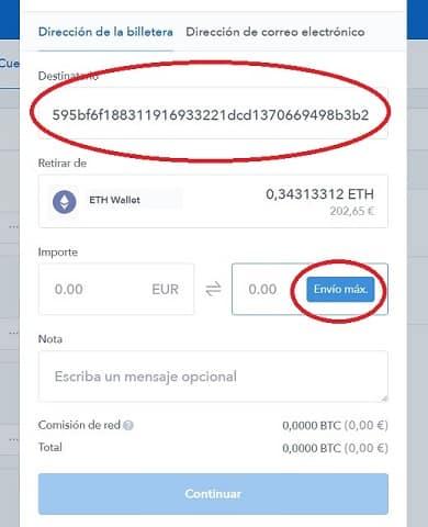 depósito ethereum en binance desde coinbase y compra de moneda STATUS