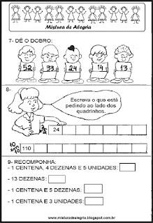 Avaliação de matemática - 3º ano