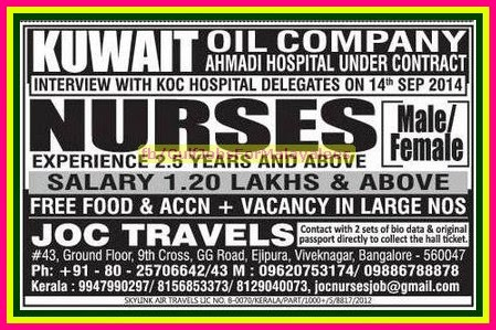 Vacancies In Kuwait Oil Company Gulf Jobs For Malayalees