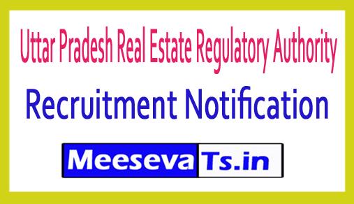 Uttar Pradesh Real Estate Regulatory Authority UP RERA Recruitment