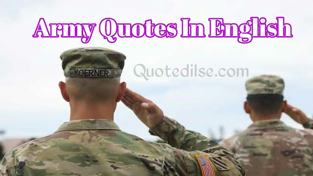 Army Quotes In English