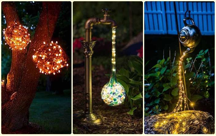 De todo un poco c mo hacer estos tres adornos para el for Lamparas para el jardin