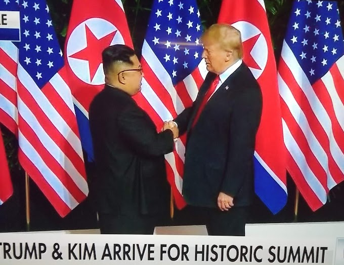 History is made as Donald Trump and Kim Jong Un meet for their summit in Singapore