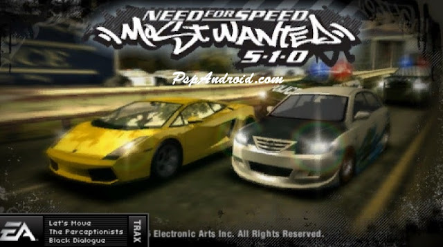 NFS Most Wanted Most Wanted PSP