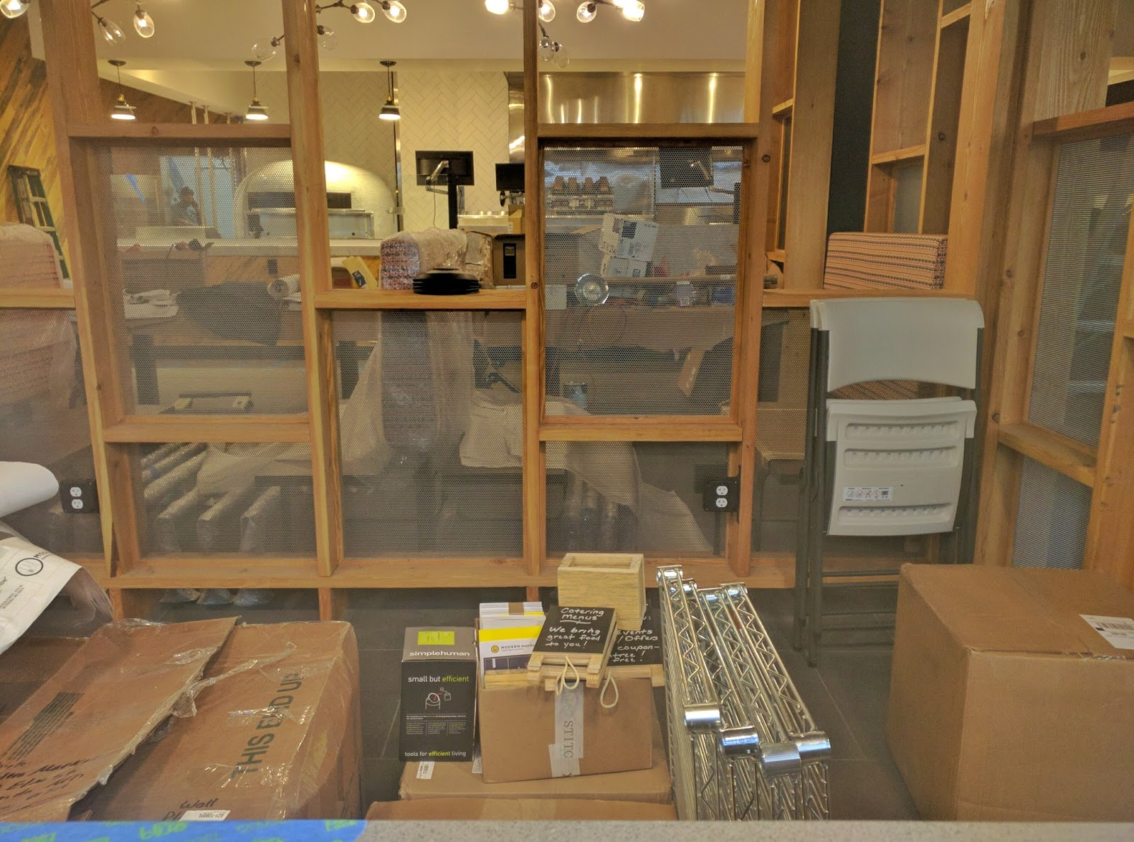 Furniture Has Arrived Many Lighting Fixtures Are Now In Place As The New Exterior Windows Modern Market Is Located At 4930 Elm Street
