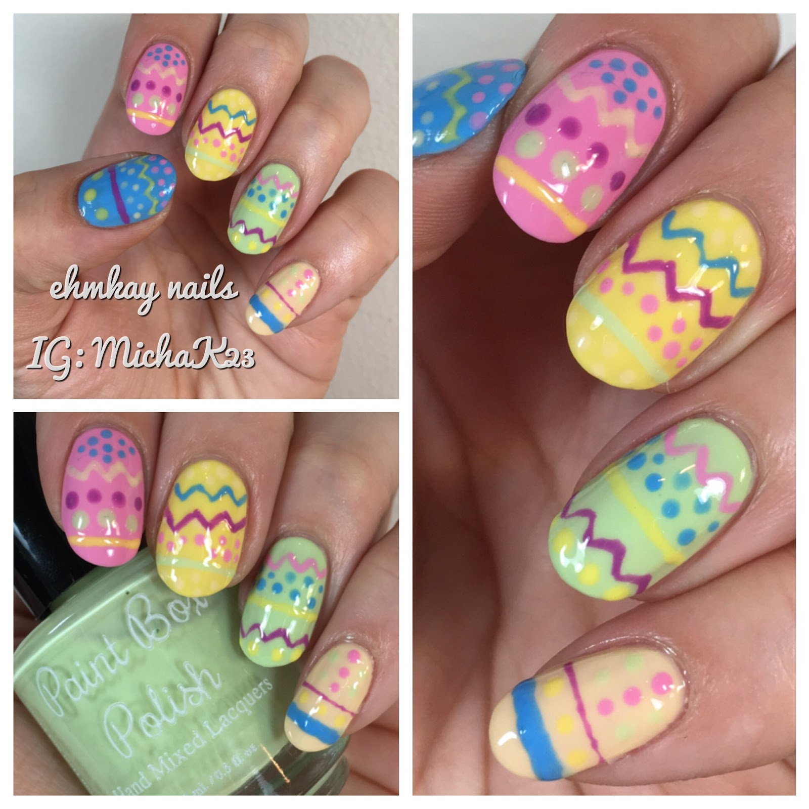 ehmkay nails: Easter Nail Art: Easter Eggs Nail Art with Paint Box ...
