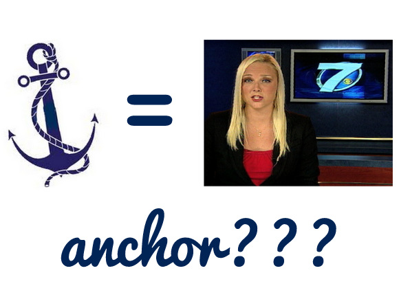 Anchor and news anchor graphic
