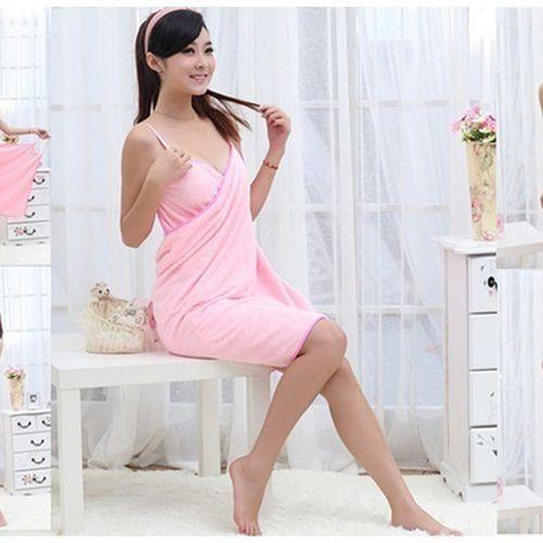 Fashion Lady Wearable Bath Towels Fast Drying Magic Bath Towel Beach Spa Bathrobes Bath Skirt