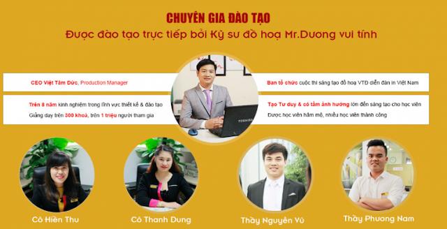 Giảng viên tại khóa học thiết kế đồ họa ngắn hạn tại Mê Linh