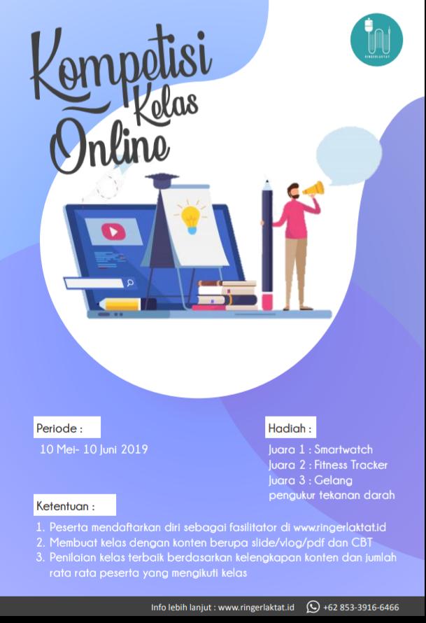 DoctorTechno: Kompetisi  Kelas Online Ringerlaktat.com Periode 10 Mei-11 Juni 2019