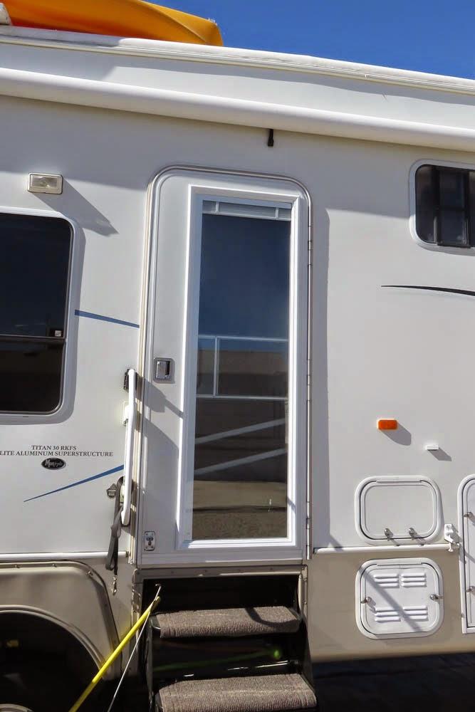 Enjoy The Journey: RV Trailer Door Window Insert