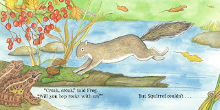 sample page from THE BUSY LITTLE SQUIRREL by Nancy Tafuri