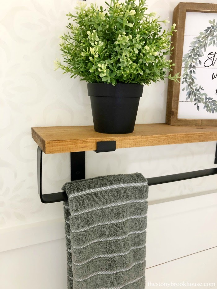 Farmhouse Style Steel Shelf Bracket