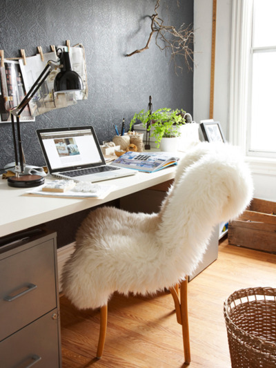 a cozy desk chair