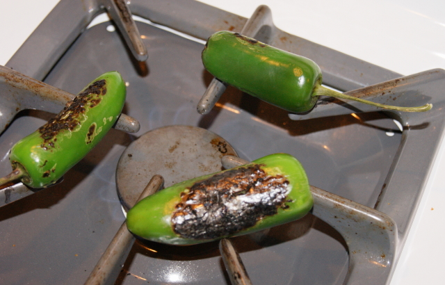 Roasting Jalapenos for Jalapeno Popper Grilled Cheese Image