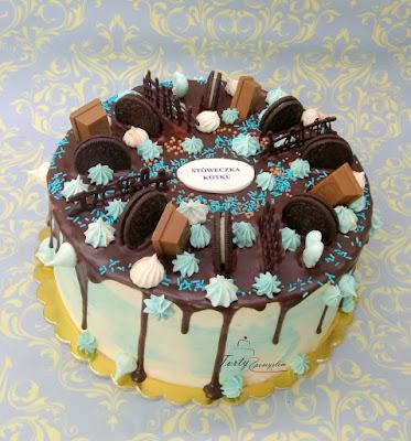 tort drip cake z oreo