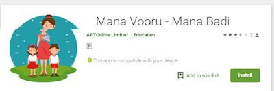 Mana vooru mana badi - mobile App and user Manual Day wise shedule