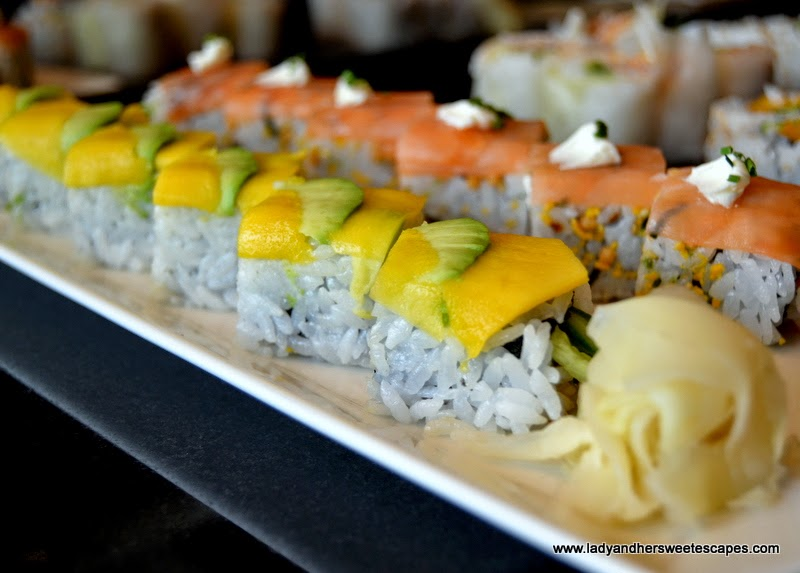 Salmon california rolls at Sushi Counter Dubai