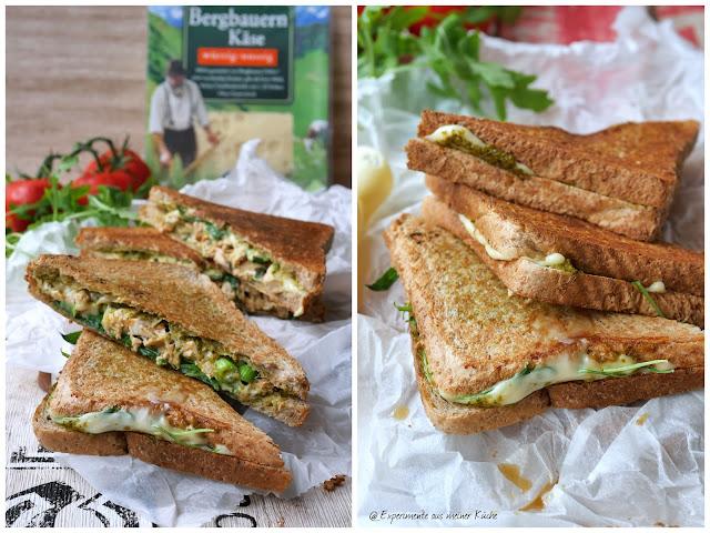 Chicken Cheese Grilled Sandwich   Rezept