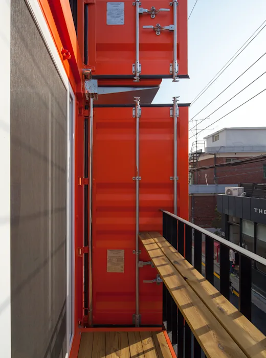 Shipping Container 4 Story House - Office, Cafe and Hotel in Seoul, South Korea 76