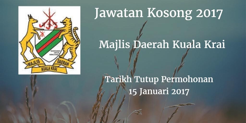 Jawatan Kosong Majlis Daerah Kuala Krai 15 Januari 2017