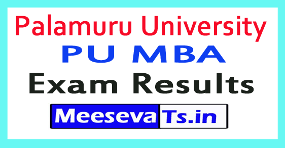 Palamuru University PU MBA Results 2017
