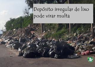 Depósito irregular de lixo