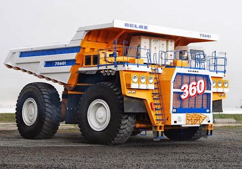 Belaz 75601 Mining Truck - maiores caminhões de mineração do mundo