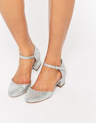 zapatos plateados para 15