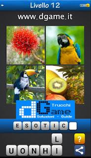 Trova la Parola - Foto Quiz con 4 Immagini e 1 Parola pacchetto 1 soluzione livello 12