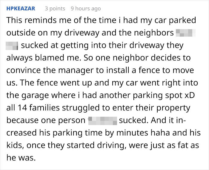 Neighbors Kept Running Over A Family's Fence, So The Father Replaced It With Concrete, And It Wrecked Eight Of Their Cars