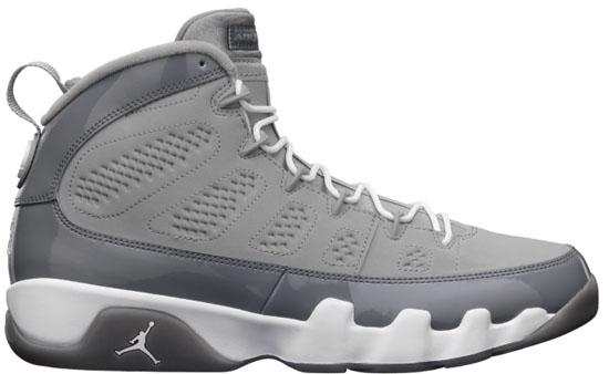 low priced 1a215 ee669 Air Jordan 9 Retro Medium Grey White-Cool Grey Release Reminder