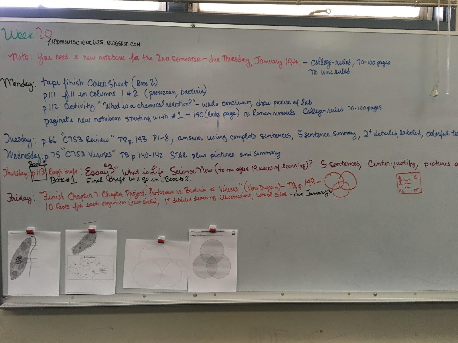 Week 20 Thursday January 26 2017 Miss Durant S Science
